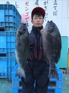 行橋の松崎さん、45cmクロダブルGET