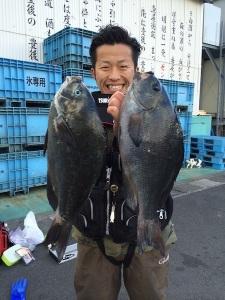 大分の藪田さん、43cmクロダブルGET