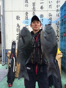 久留米の福田さん、45cmクロダブルGET