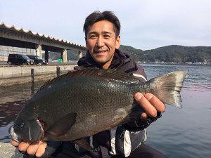 下関の岩田さん、45cmクロGET