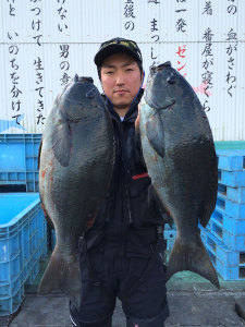 竹田の江藤さん、47cmクロダブルGET