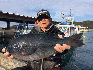 熊本の一本さん、44cmクロGET