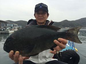 福岡の立石さん、44cmクロGET