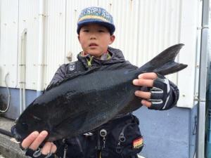 福岡の山本君、45cmクロGET