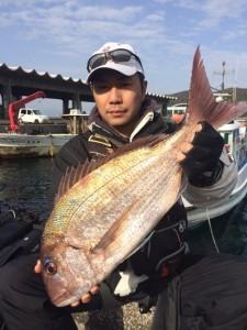 田川の武本さん、61cm真鯛GET