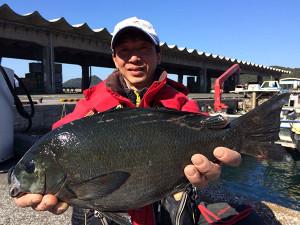 北九州の加藤さん、44cmクロGET