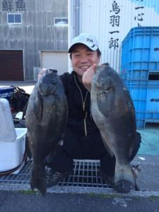 北九州の平野さん、47cmクロダブルGET、自己記録更新