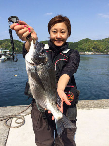 豊前の奥村さん、46cmチヌGET
