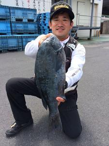 北九州の尾家さん、46cmクロGET