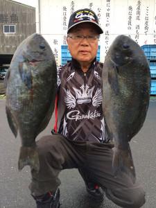 北九州の広吉さん、43cmクロダブルGET