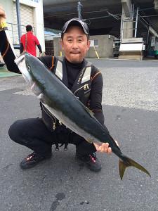 北九州の巴山さん、92cm、6.8kgのブリGET