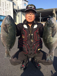 北九州の広吉さん、良型クロGET