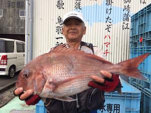 大分の池永さん、54cm真鯛GET