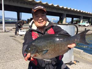 北九州の吉田さん、44cmクロGET