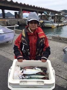 北九州の前田さん、夜のサバ釣りを楽しんだ