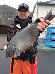 北九州の田中さん、46.5cmクロGET