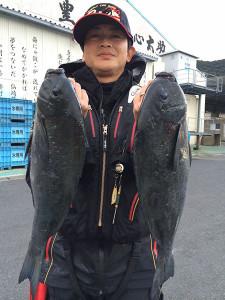 北九州の小林さん、45cmクロダブルGET