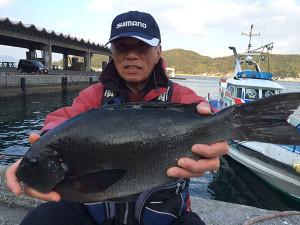 北九州の本田さん、47cmクロGET
