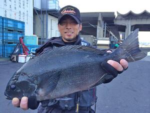 大分の岡田さん、47.5cmクロGET