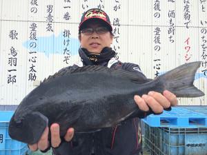 熊本の大久保さん、47.5cmクロGET