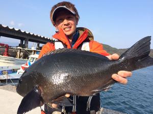 中津の古庄さん、49cmクロGET