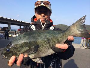 北九州の内田さん、45cmクロGET