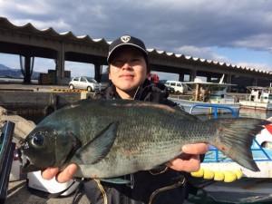 北九州の在川さん、44cmクロGET