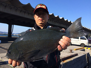 熊本の大久保さん、46.5cmクロGET