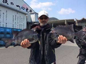 北九州の前田さん、良型石鯛GET