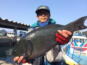 熊本の岩本さん、46cmクロGET