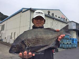 北九州の清成さん、43cmチヌGET