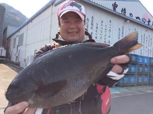 北九州の吉田さん、良型クロGET