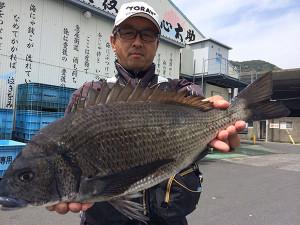 北九州の清成さん、49cmチヌGET