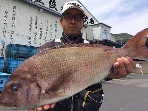 北九州の清成さん、51cm真鯛GET