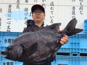 熊本の大久保さん、57cm石鯛GET