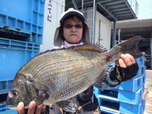 北九州の前田さん、48cmチヌGET