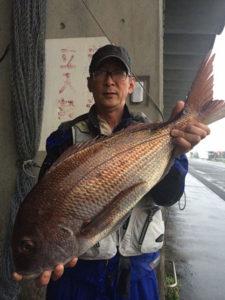 北九州の山崎さん、70cm真鯛GET