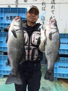 中津の森山さん、56cmスズキGET