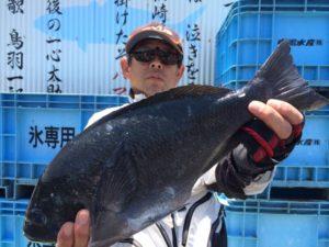 久留米の居川さん、46cmクロGET
