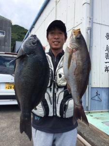 北九州の柴田さん、良型クロ、イサキGET