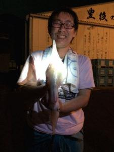 国東の太田さん、夜焚きのイカ釣りを楽しんだ