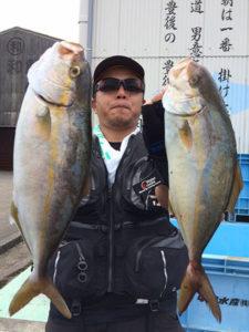 北九州の坂元さん、カンパチGET
