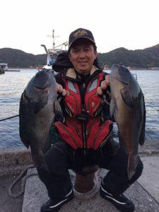 大分の播磨さん、44.8cmクロGETして、職場の釣り大会で2位