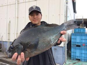 北九州の在川さん、44.5cmクロGET
