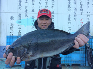 中津の山崎さん、47.5cmクロGET